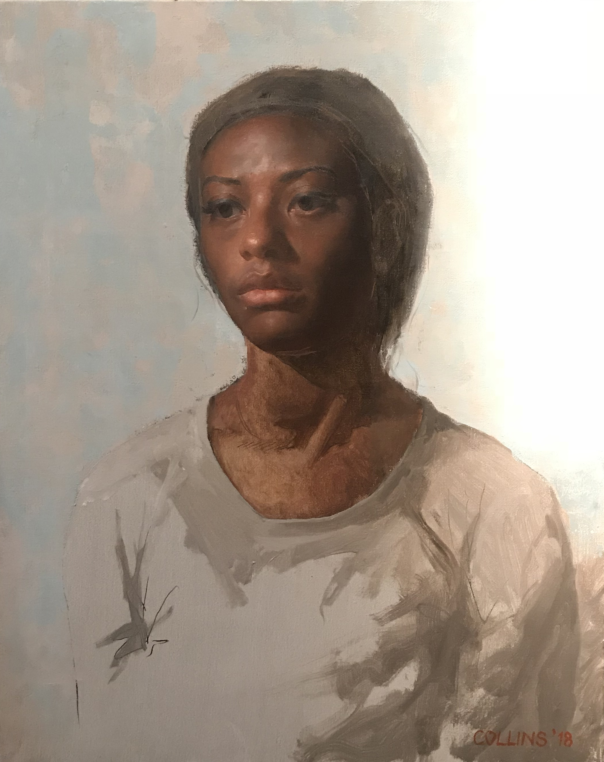Jacob Collins  (b. 1964)  Untitled , 2018 20 x 16 in. oil on canvas