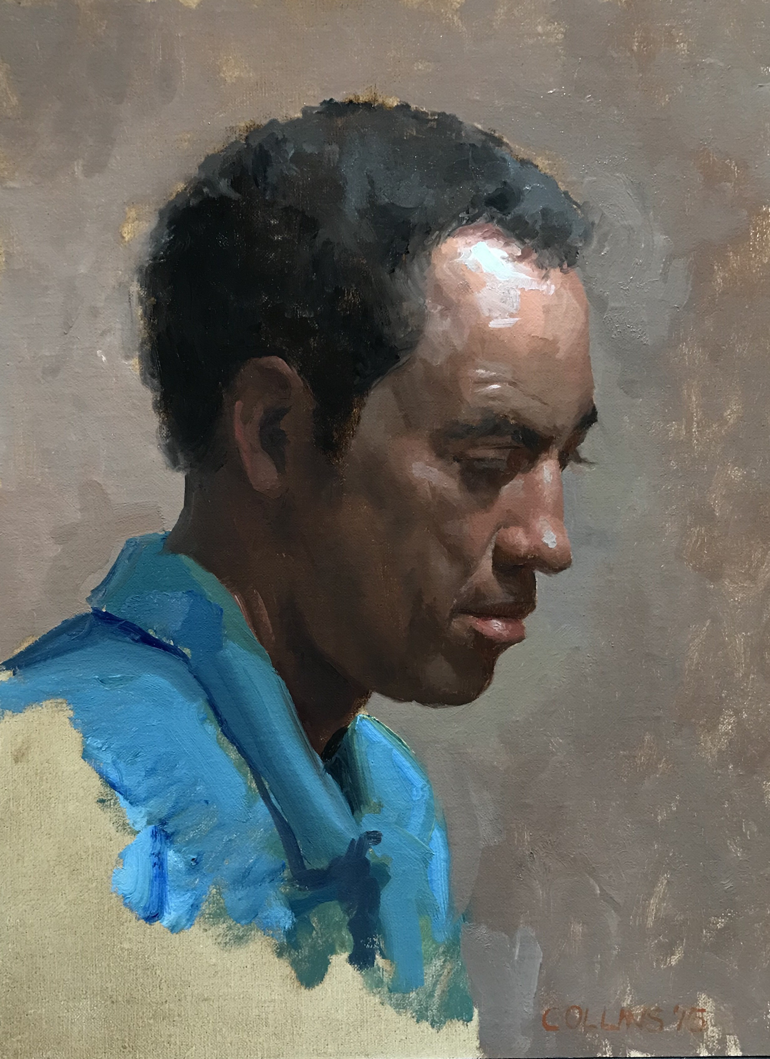 Bruce  by Jacob Collins, 2015 9 x 12 in, oil on panel   SOLD