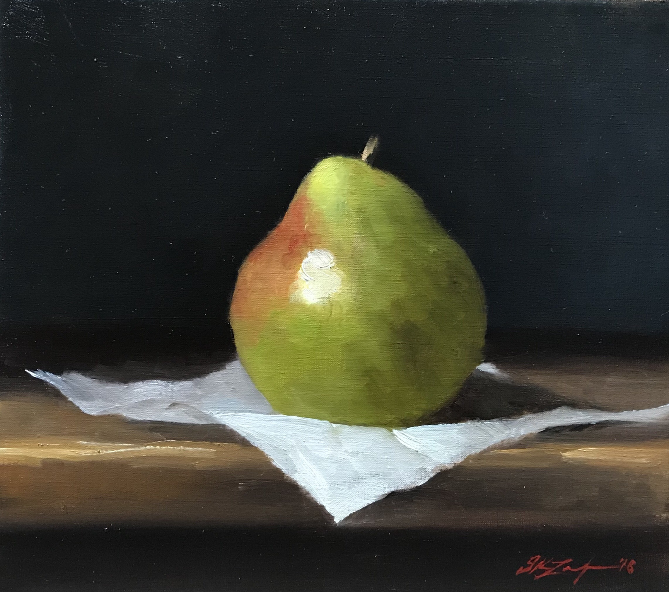Pear  by Sarah Lamb, 2018 9 x 9 in, oil on panel   SOLD