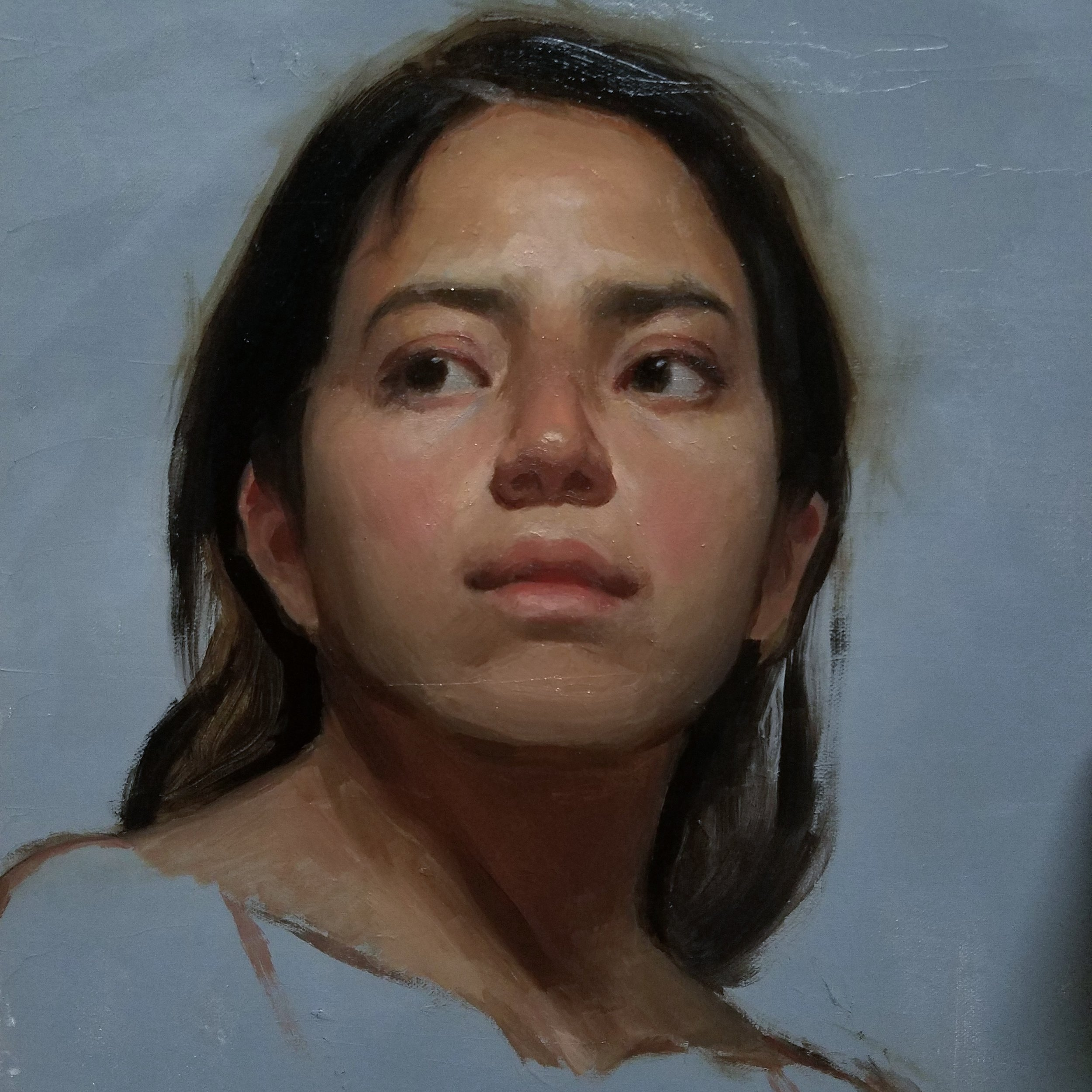 Andrea  by Sandra Sanchez, 2018, oil on linen, 11 x 14 in, $1,200