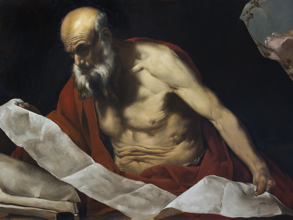 St. Jerome, copy after Hendrick van Somer  2018, oil on canvas 23.75 x 31.5 in $9,000