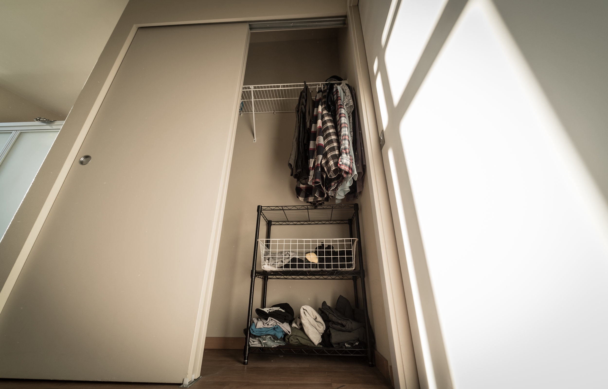 purged my closet down to my basic needs