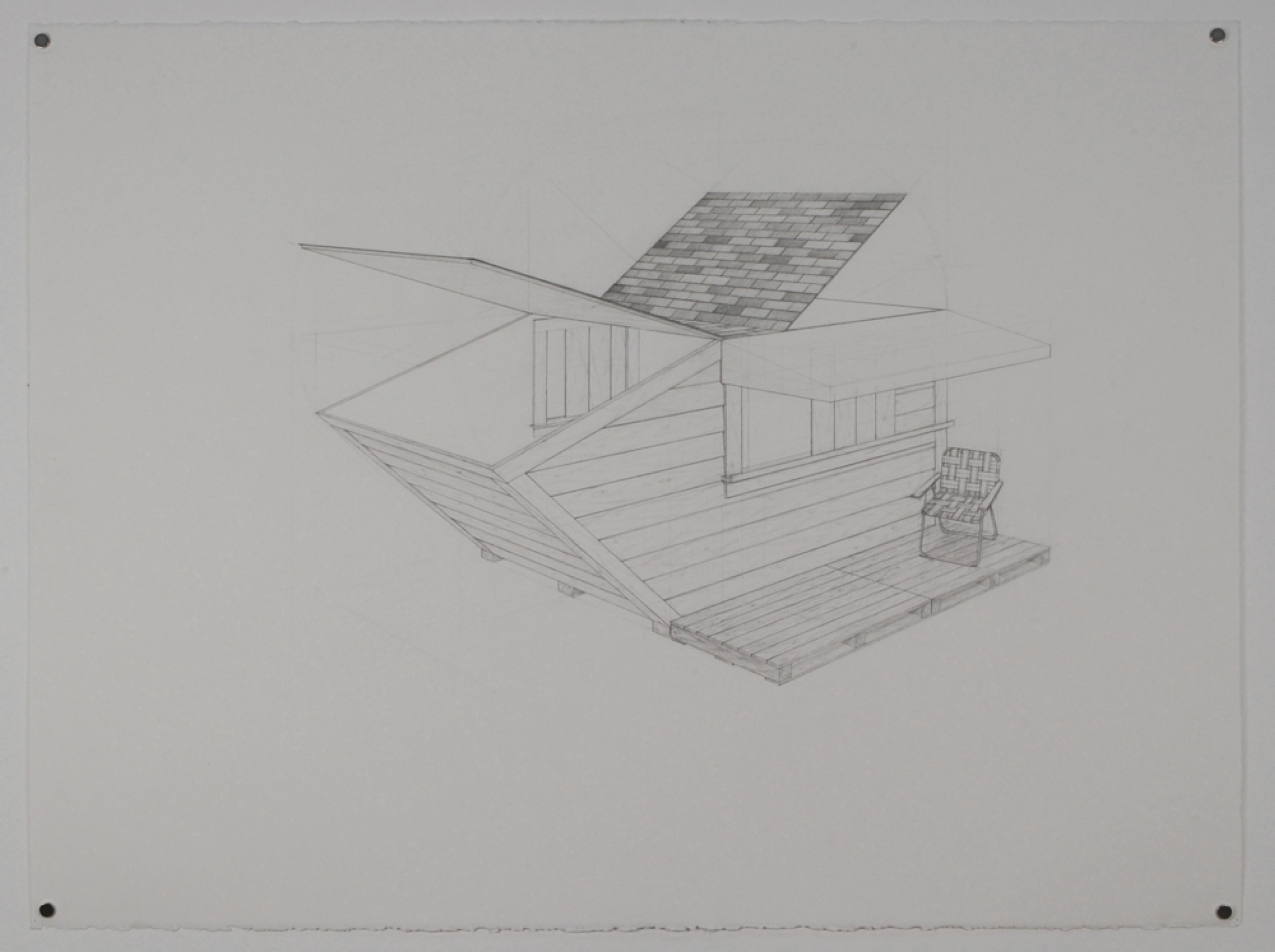 "Dumpster 1 / graphite on paper / 22 x 30"" / SOLD"