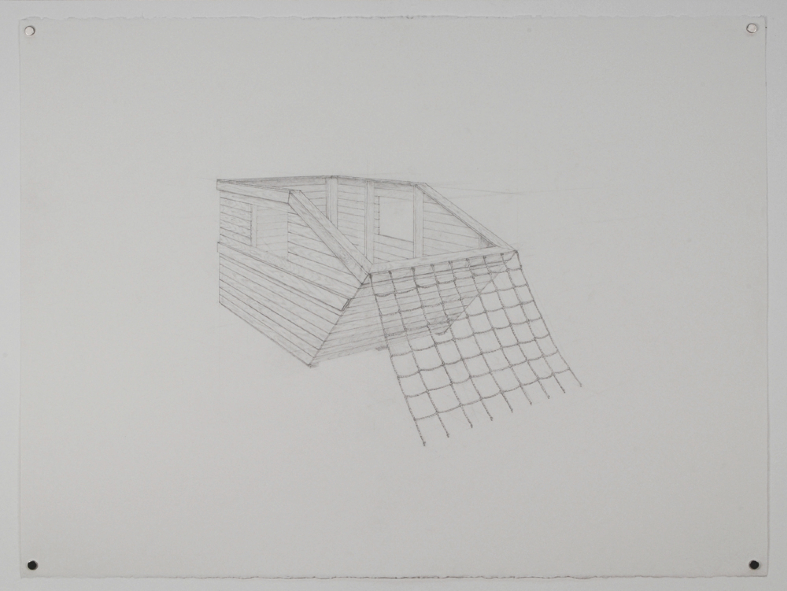 Dumpster 2 / graphite on paper / 22 x 30""