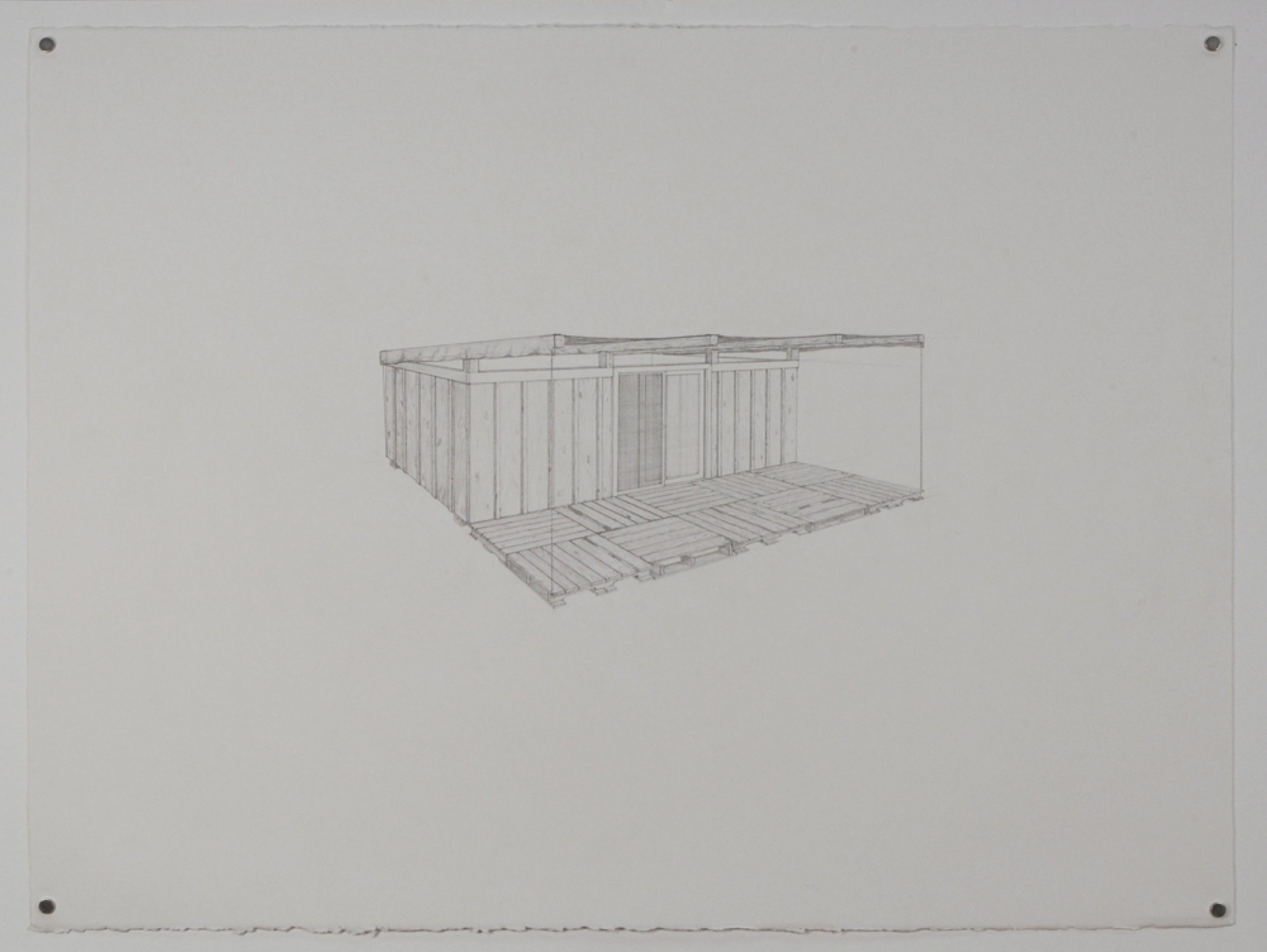 Dumpster 3 / graphite on paper / 22 x 30""