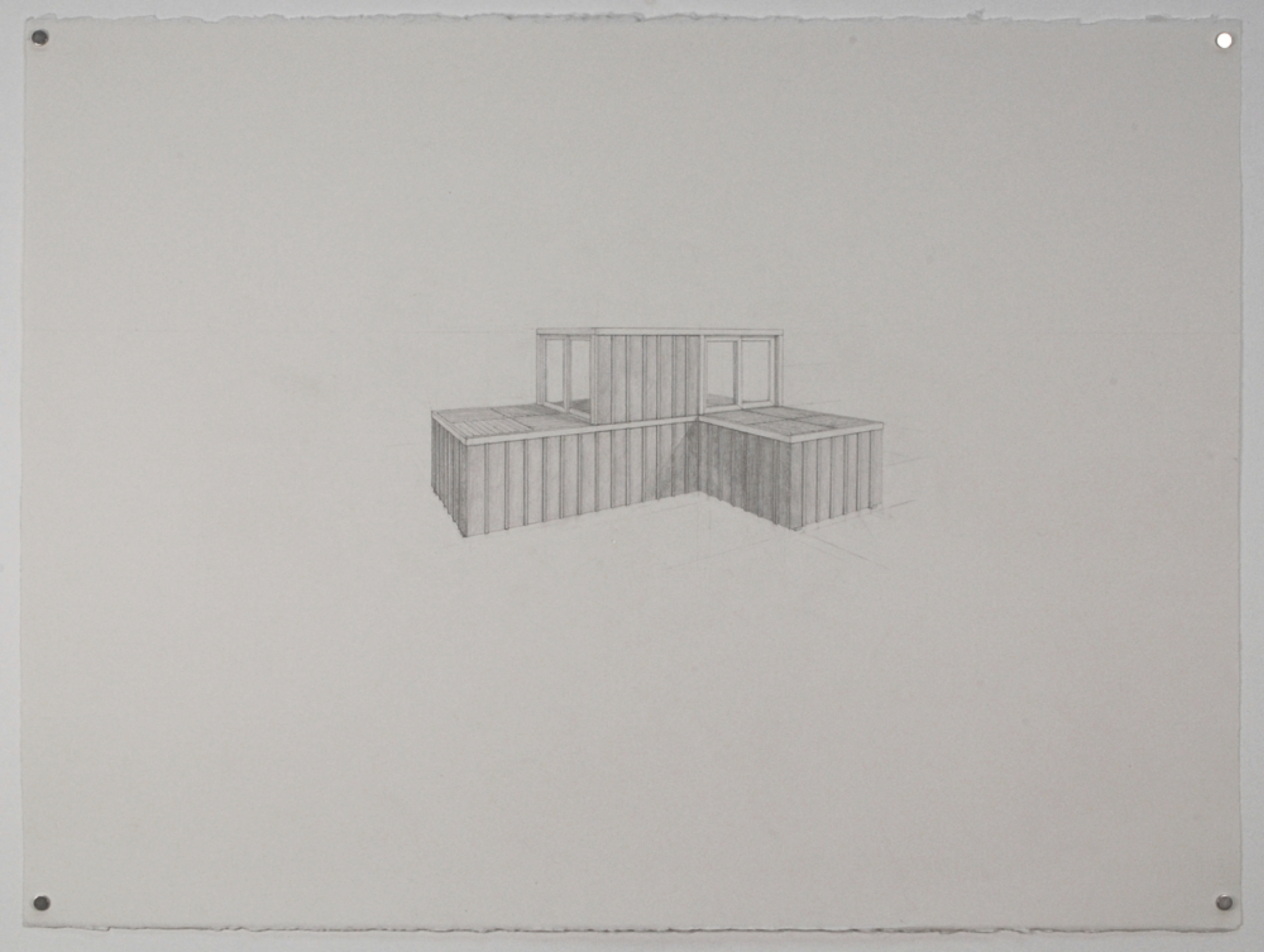 Dumpster 4 / graphite on paper / 22 x 30""