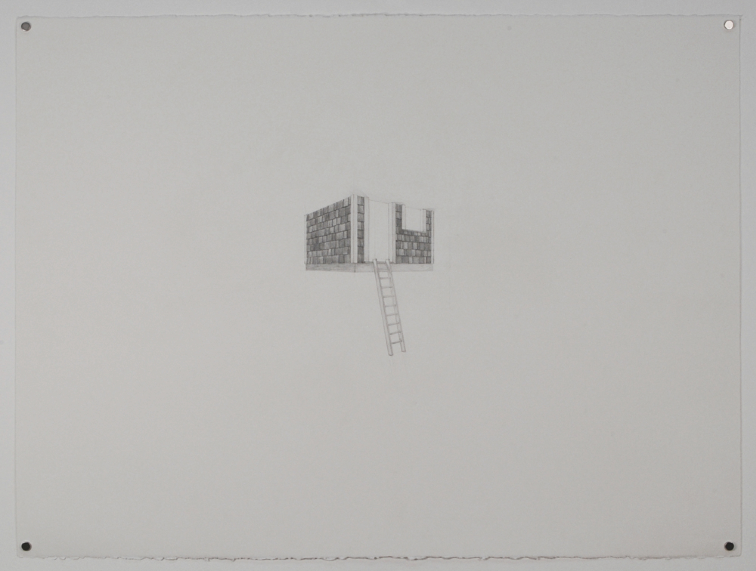 "Tree House 1 / graphite on paper / 22 x 30"" / SOLD"