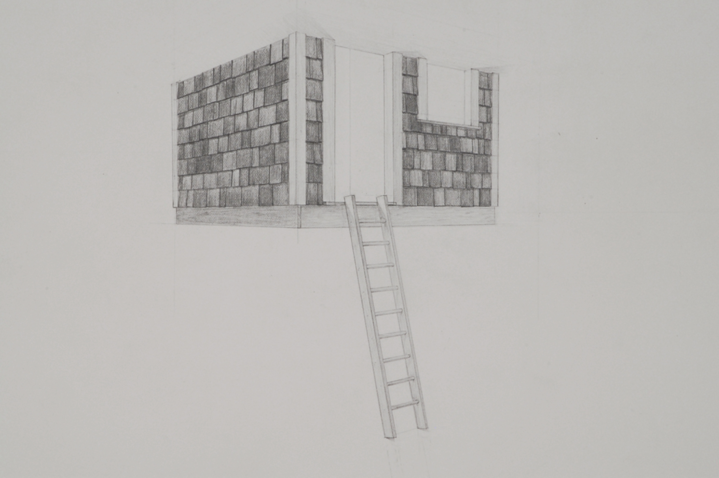 "Tree House (detail) / graphite on paper / 22 x 30"" / SOLD"