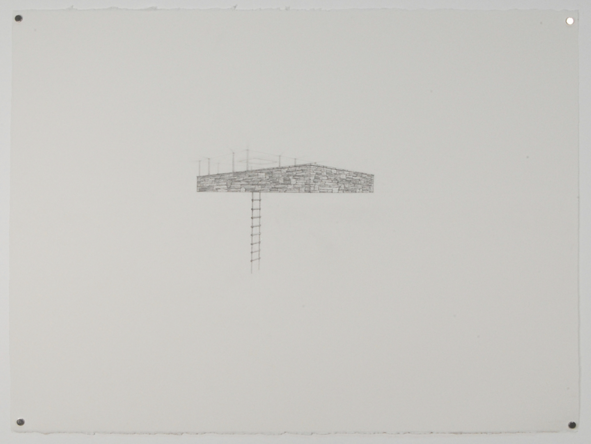 Tree House 3 / graphite on paper / 22 x30""