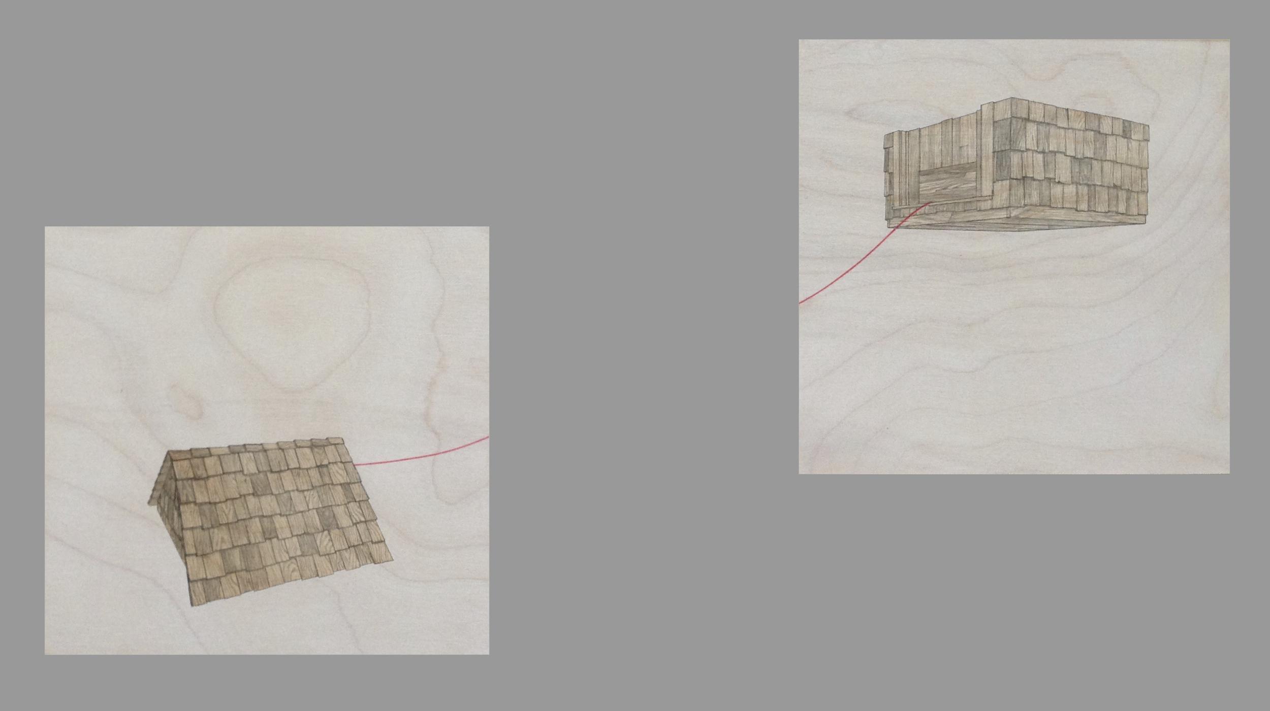 "Untitled (Top & Bottom), 8 x 8"" each"