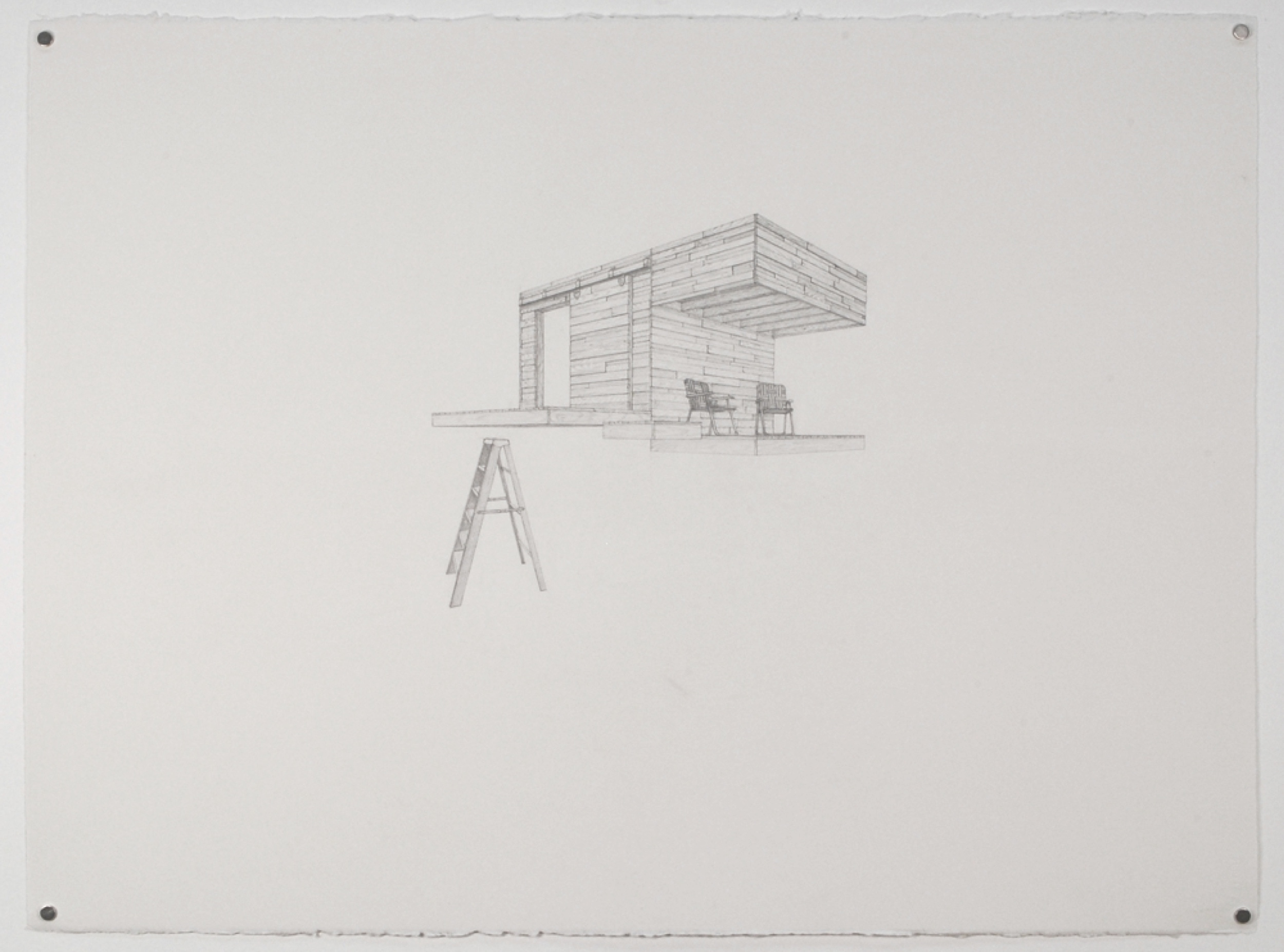 "Copy of Tree House 4 / graphite on paper / 22 x30"" / SOLD"