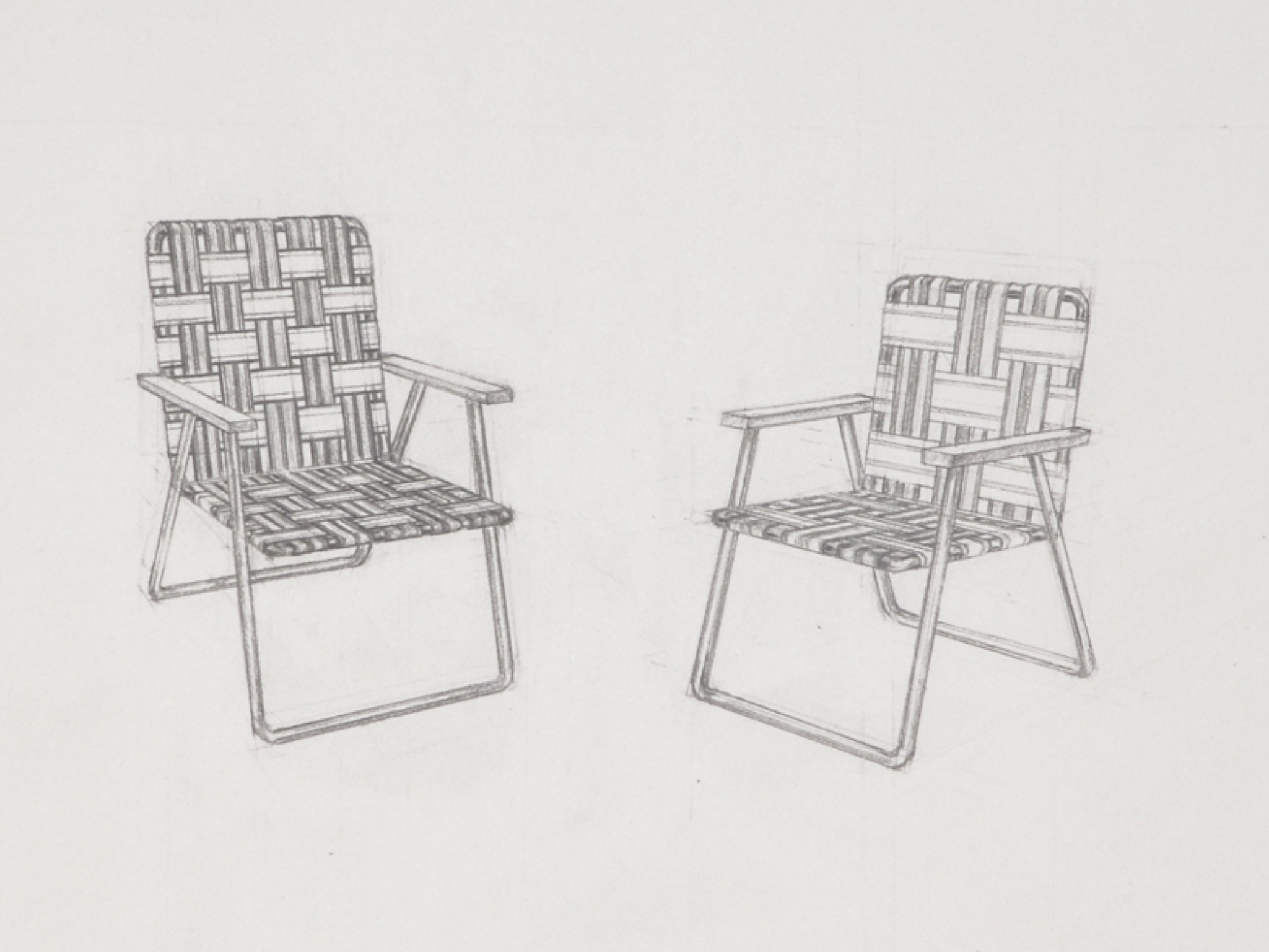 Copy of Chairs 2 (detail) / graphite on paper / 22 x 30""