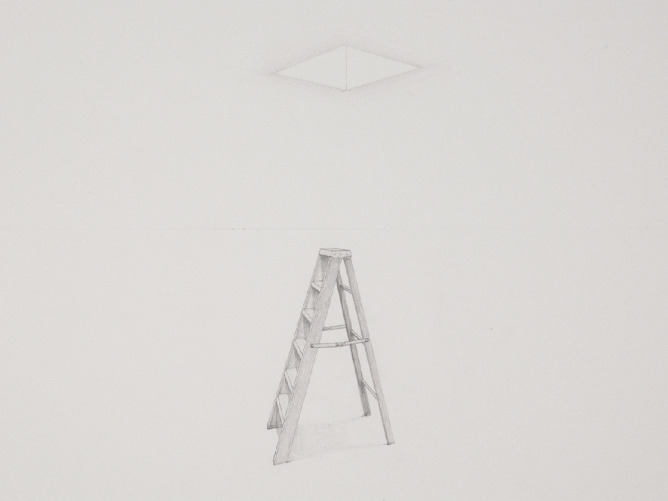 Copy of Ladder (detail) / graphite on paper / 22 x 30""
