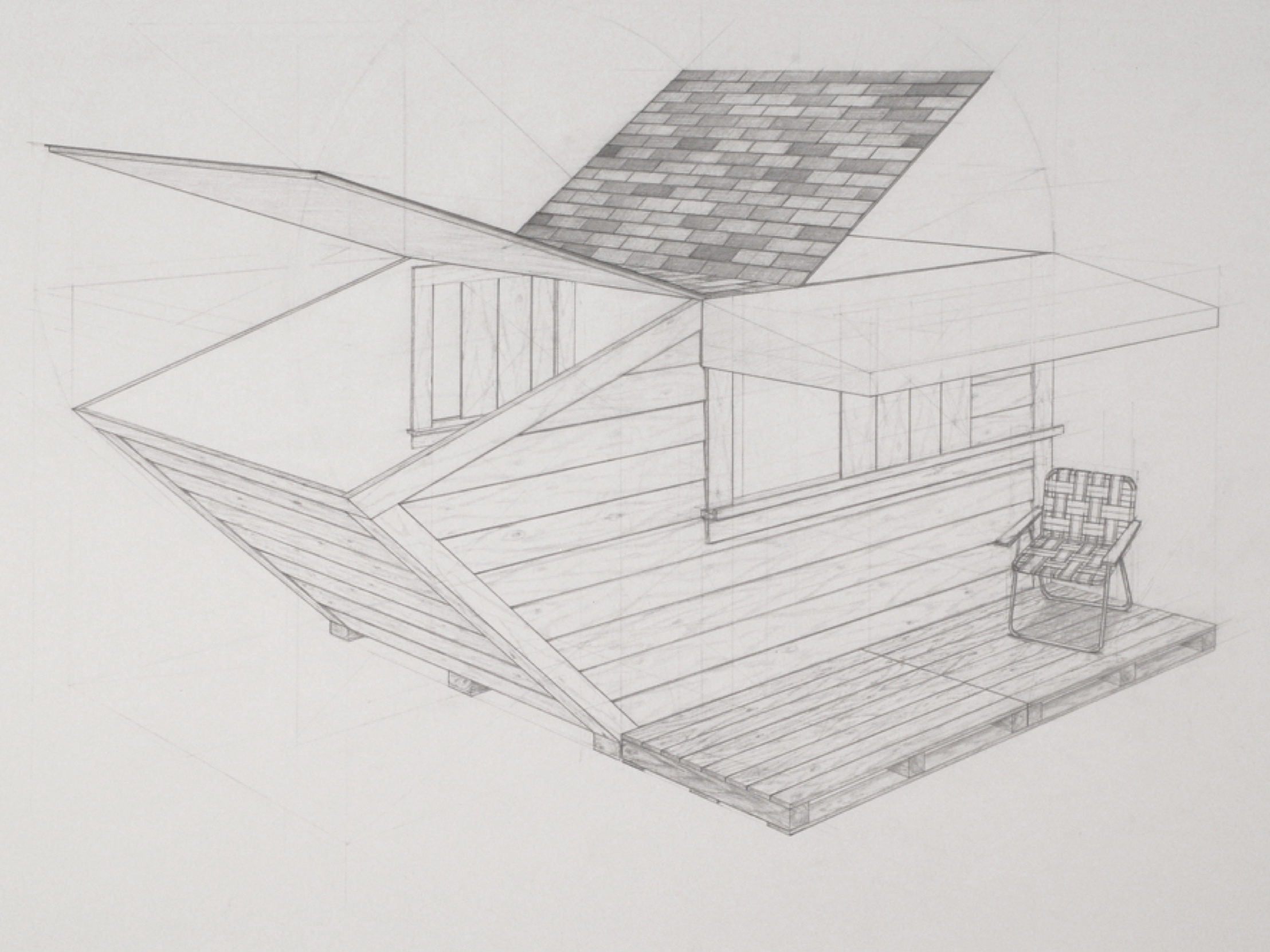 "Copy of Dumpster 1 / graphite on paper / 22 x 30"" / SOLD"