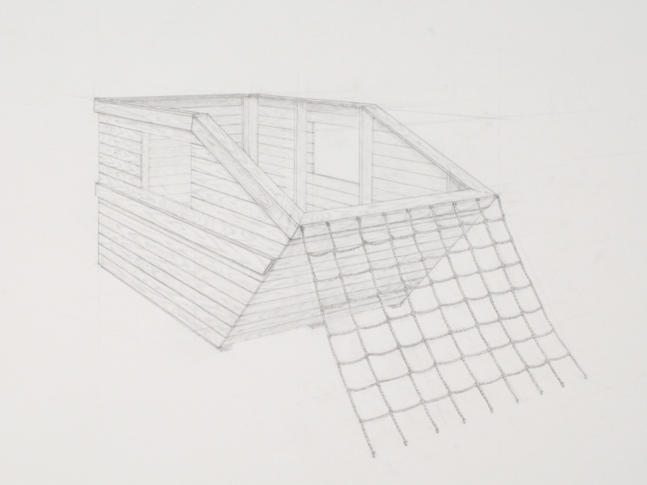 Copy of Dumpster 2 (detail) / graphite on paper / 22 x 30""