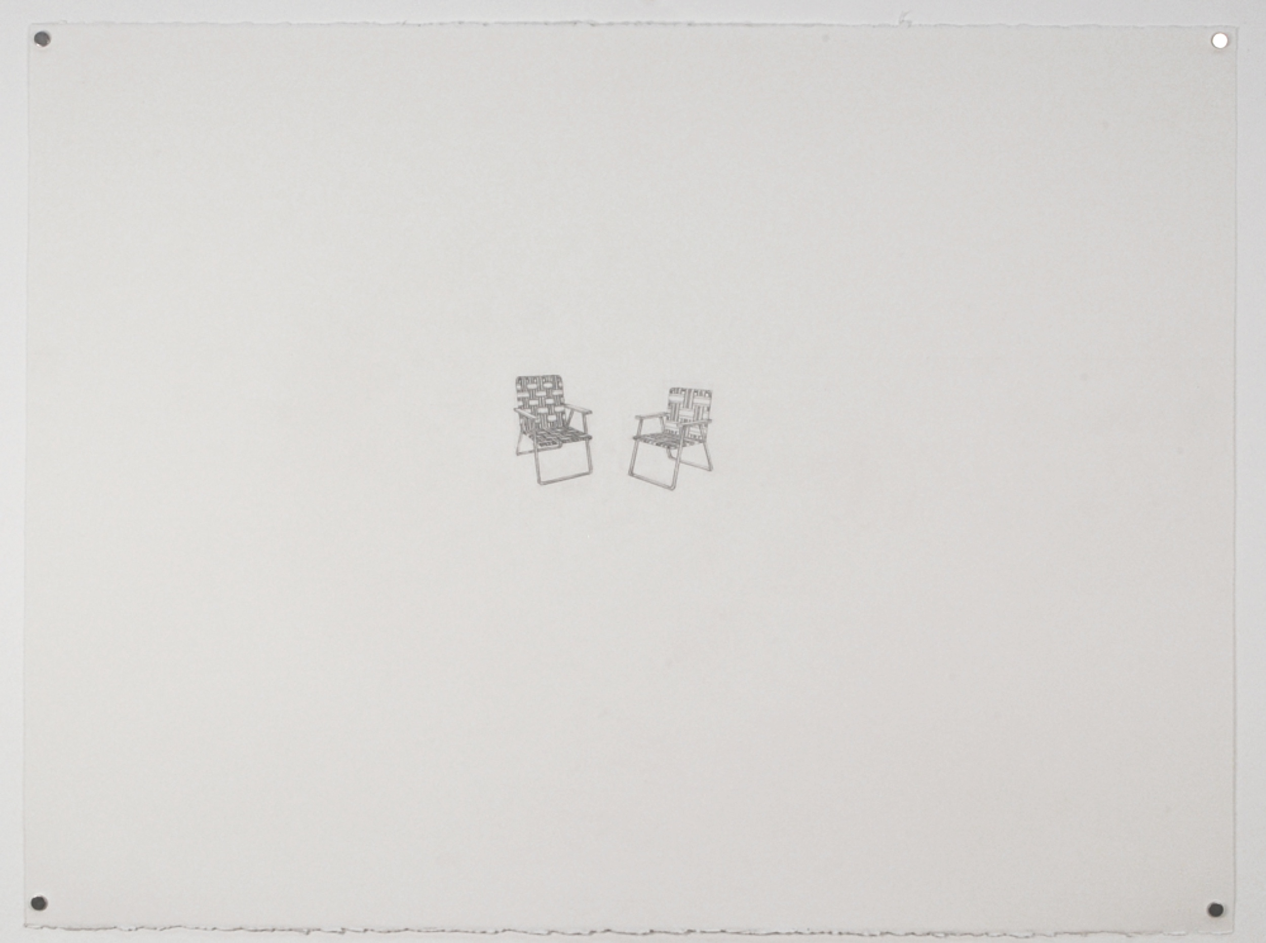 Copy of Chairs 1 / graphite on paper / 22 x 30""