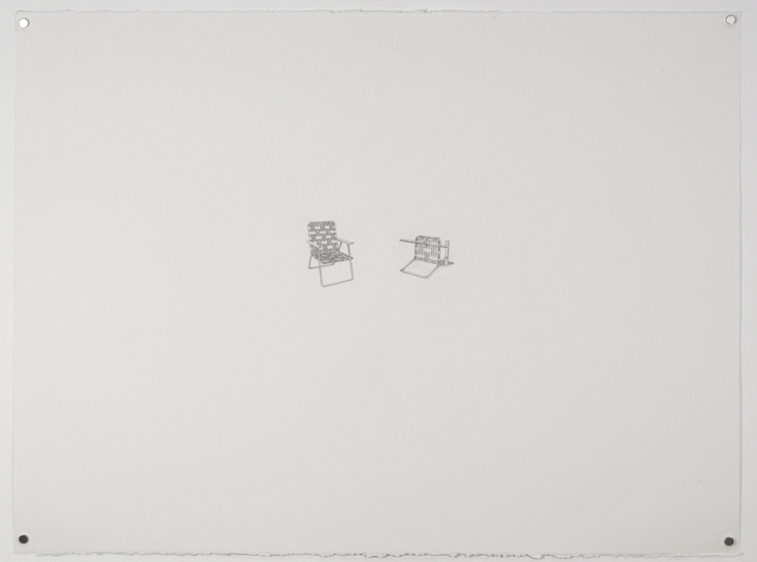 Copy of Chairs 2 / graphite on paper / 22 x 30""