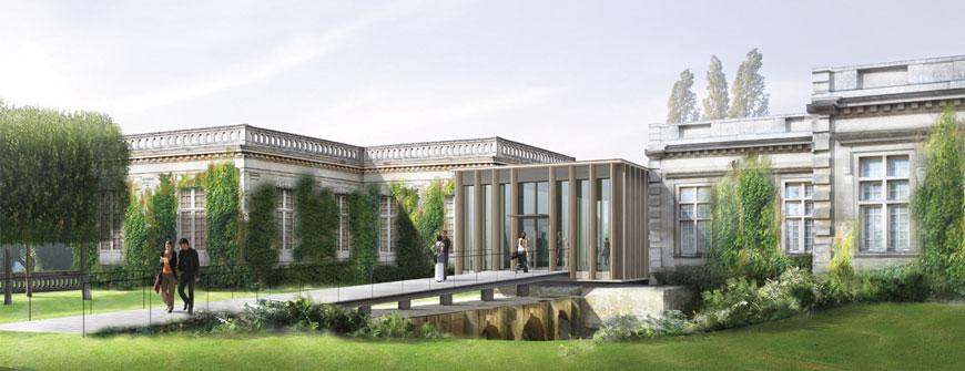 Rendering of the expanded Franco-American Museum, Château de Blérancourt