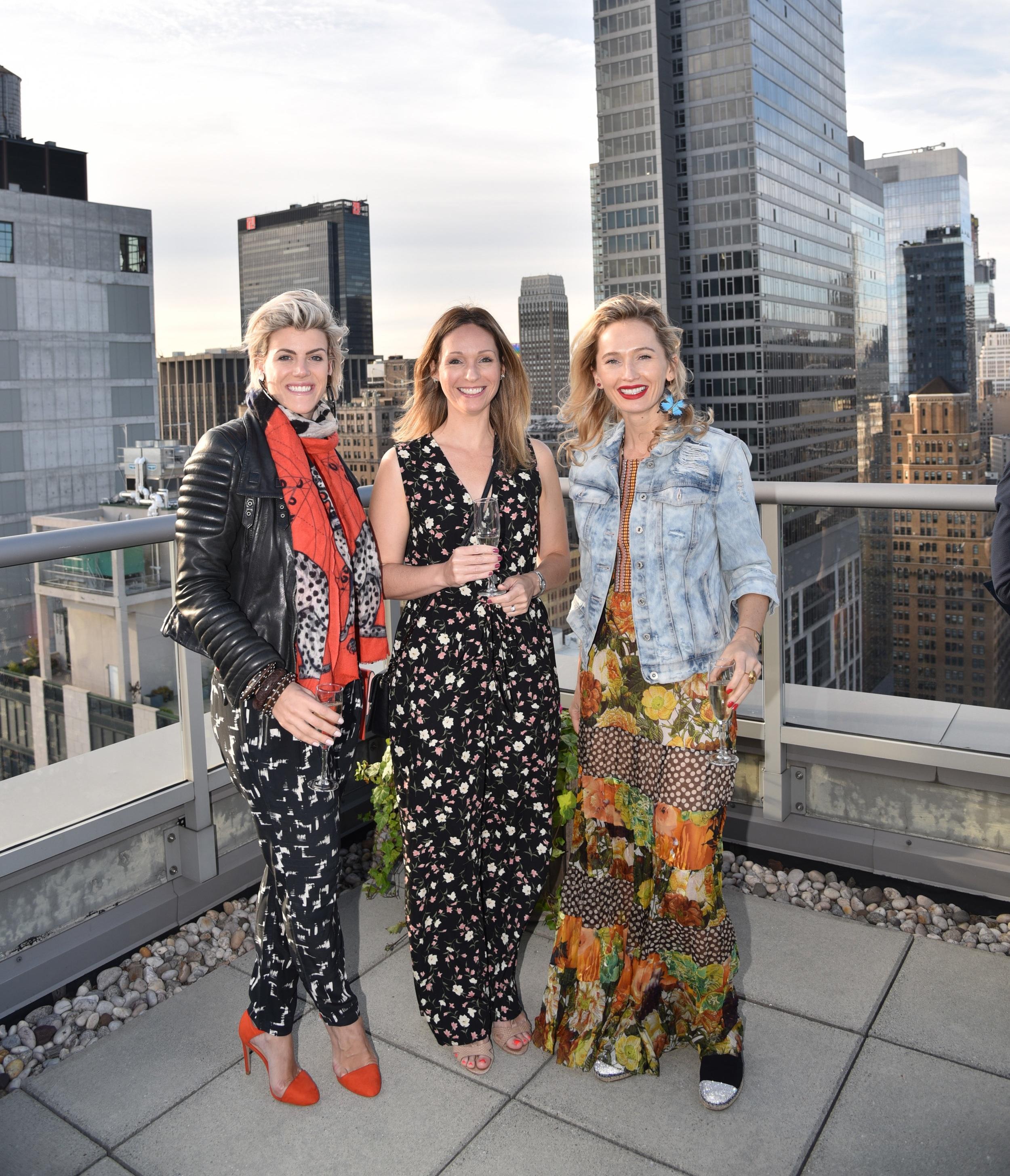 Lorraine de Tymowska, Sarah Parkins, and Nadia Kazakova.