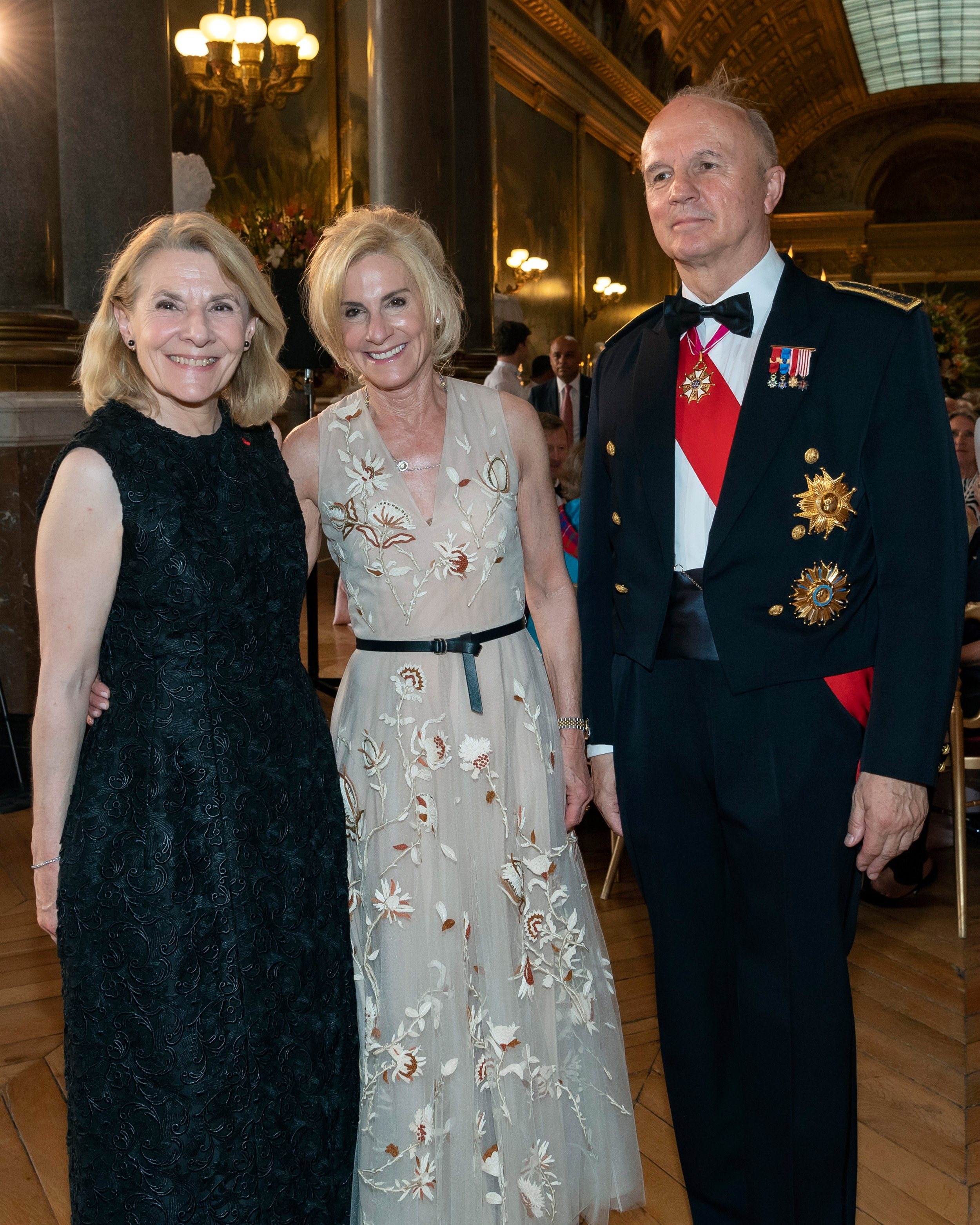 Catherine Pegard, Ambassador Jamie McCourt, General Jean-Louis Georgelin