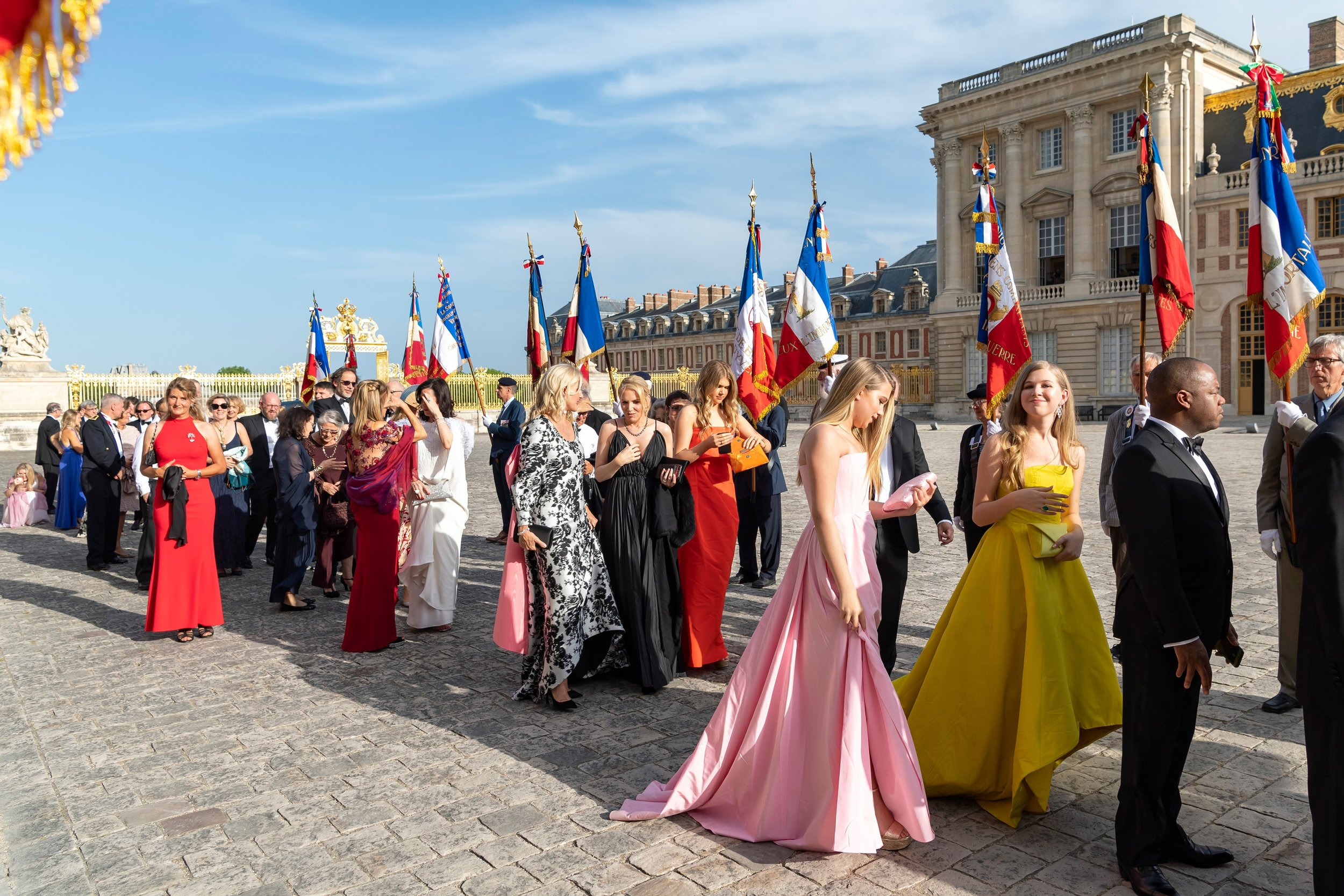 Guests at American Friends of Blerancourt at the Centennial of the Signing of the Treaty of Versailles at The Palace of Versailles in Versailles on 06/28/2019 (photo by Annie Watt Agency / Sipa USA)