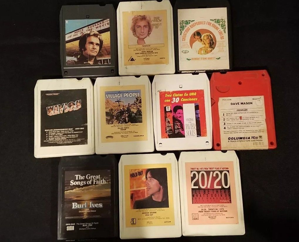 8-track stereo tape cartridge lot (10 pieces)  $80.00