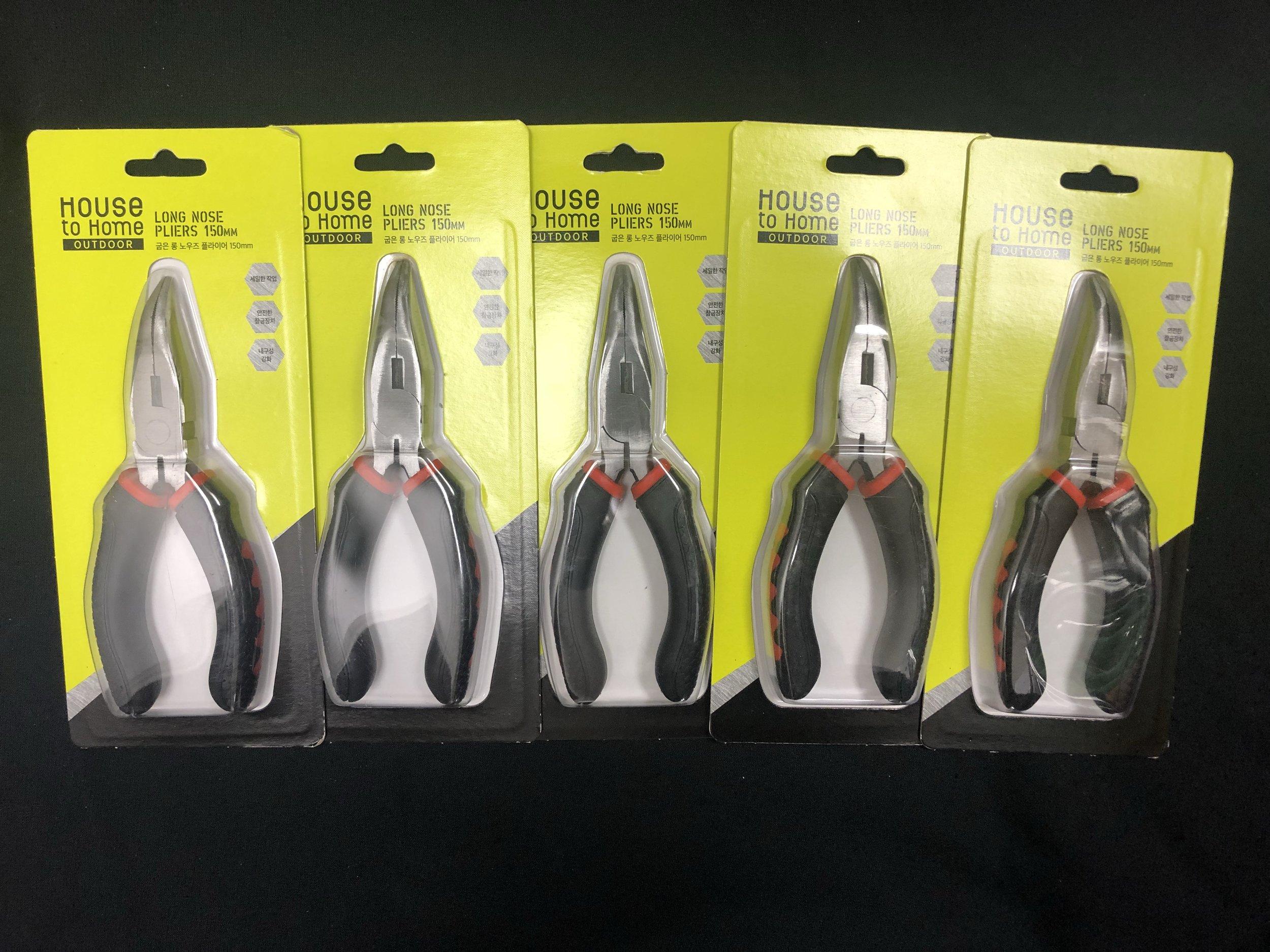 long nose pliers 150mm bundle of 5 - $25.00