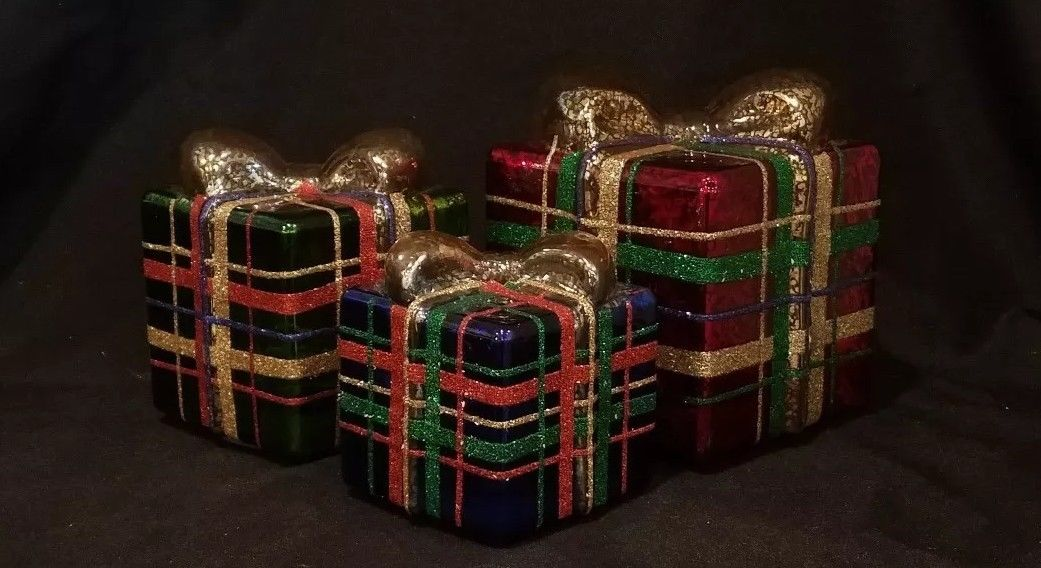 3 piece illuminated pretty in plaid collection  $59.99