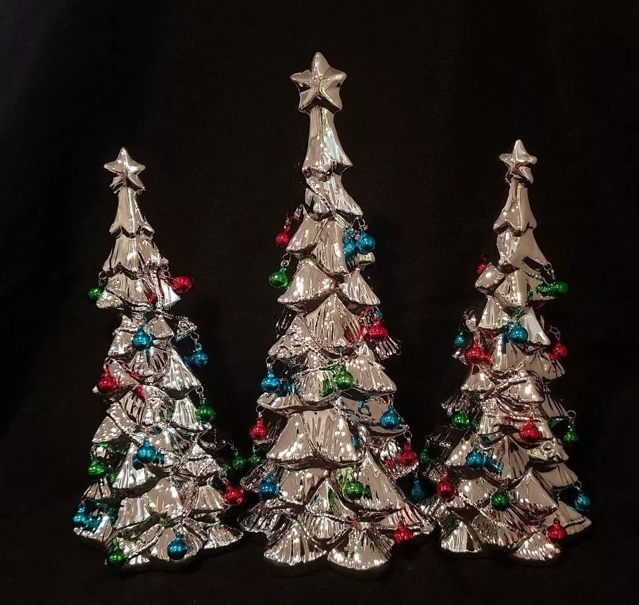 Christmas tree with bells set of 3  $59.99