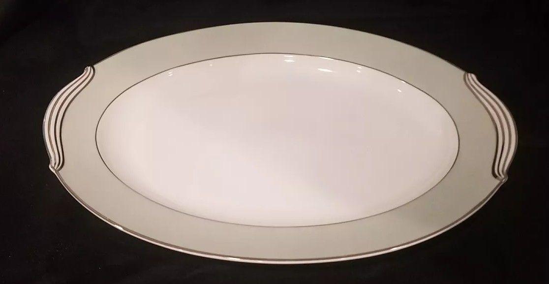 """noritake china greencourt serving platter 16""""  $44.99"""