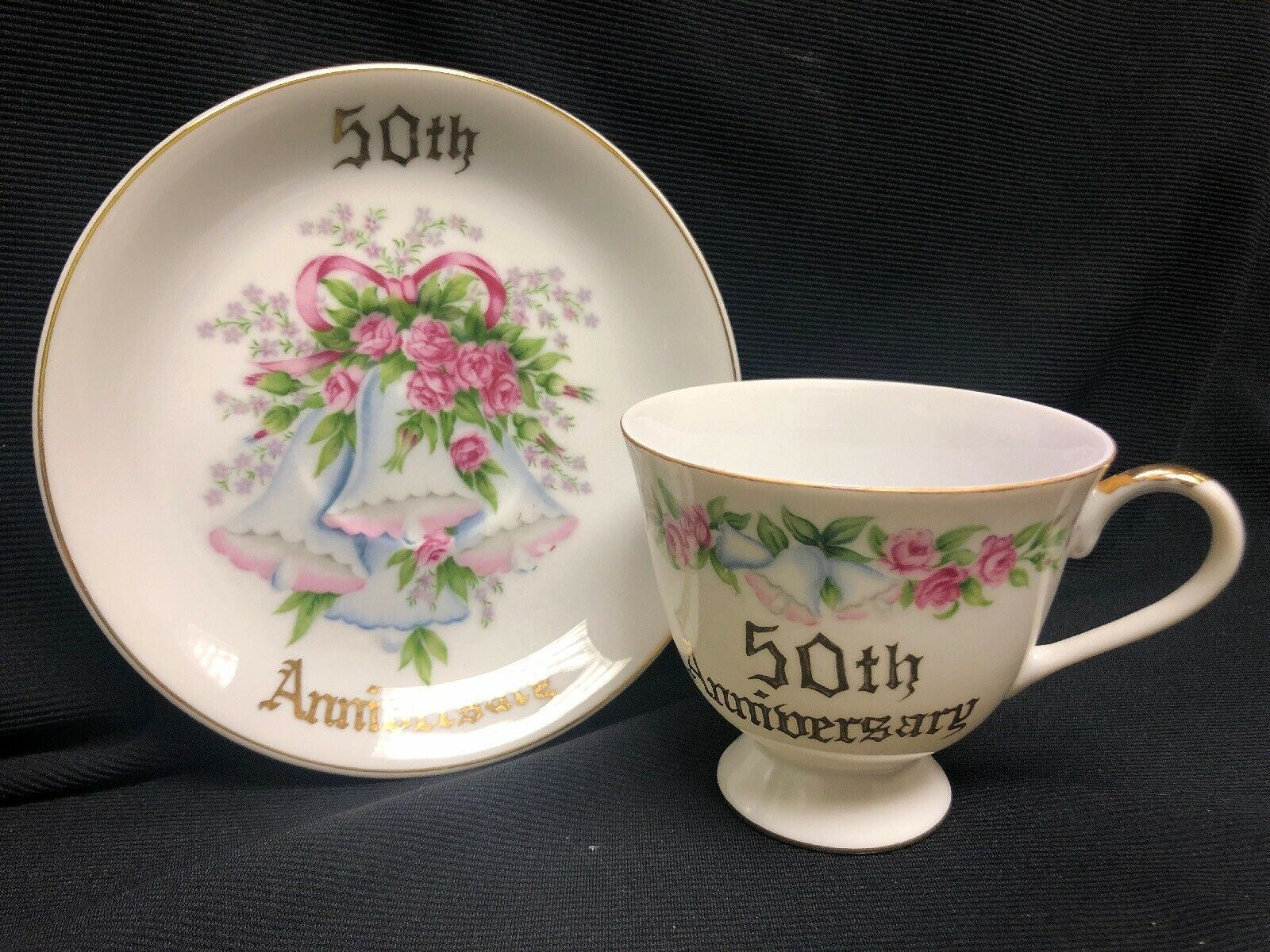 50th Anniversary Norcrest Fine China Tea Cup & Saucer    $19.99