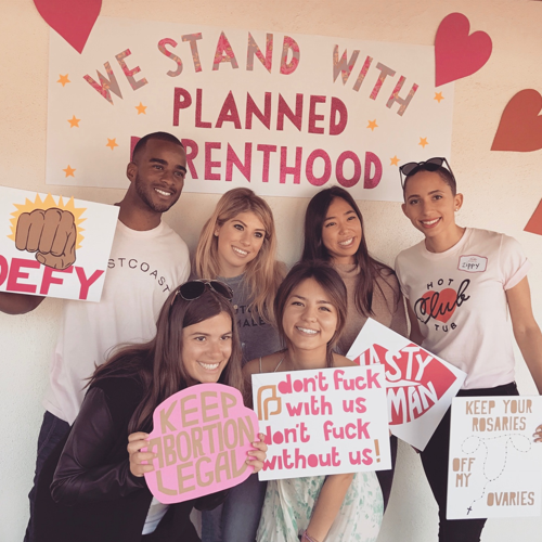 Planned ParentHood Fundraiser [LA 2017]   An event featuring 3 live music acts, silent auction, and sexual health workshop. Our group was able to raise over $15k for Planned Parenhood.
