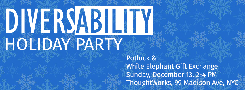 Diversability holiday party invitation