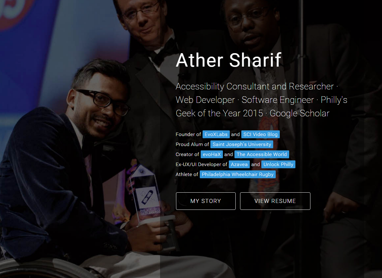 arther sharif homepage screenshot