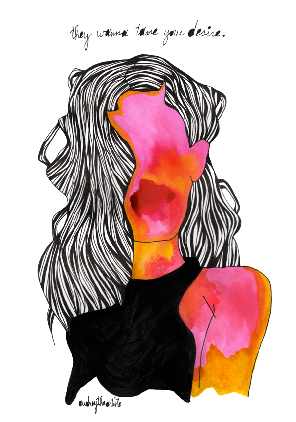 An original work by Audrey the Artiste