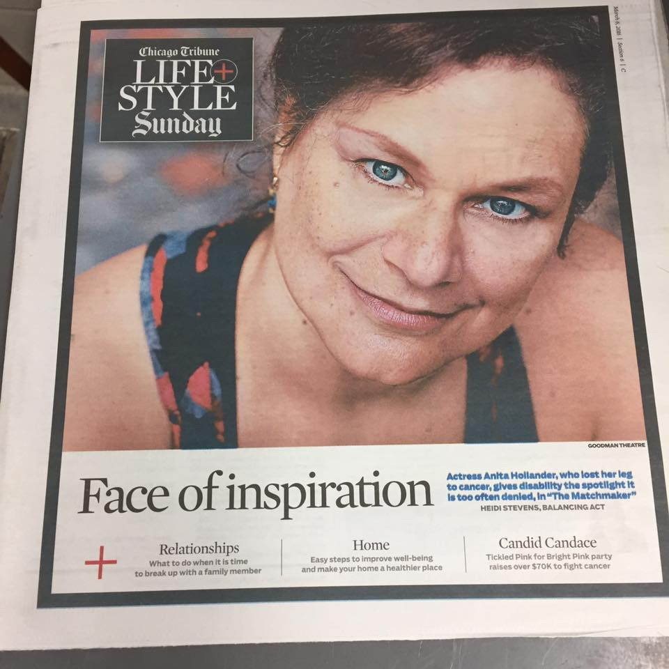 Anita Hollander on the cover of the Chicago Tribune.