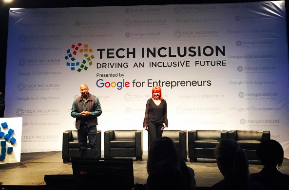 Wayne Sutton and Melinda Epler at Tech Inclusion SF