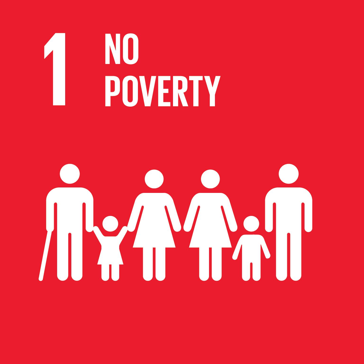 SDG 1 no poverty icon