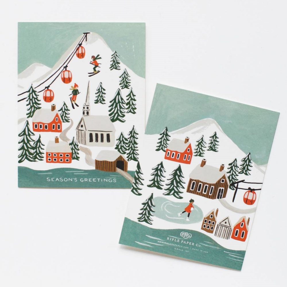 Holiday Snow Scene Greeting Card