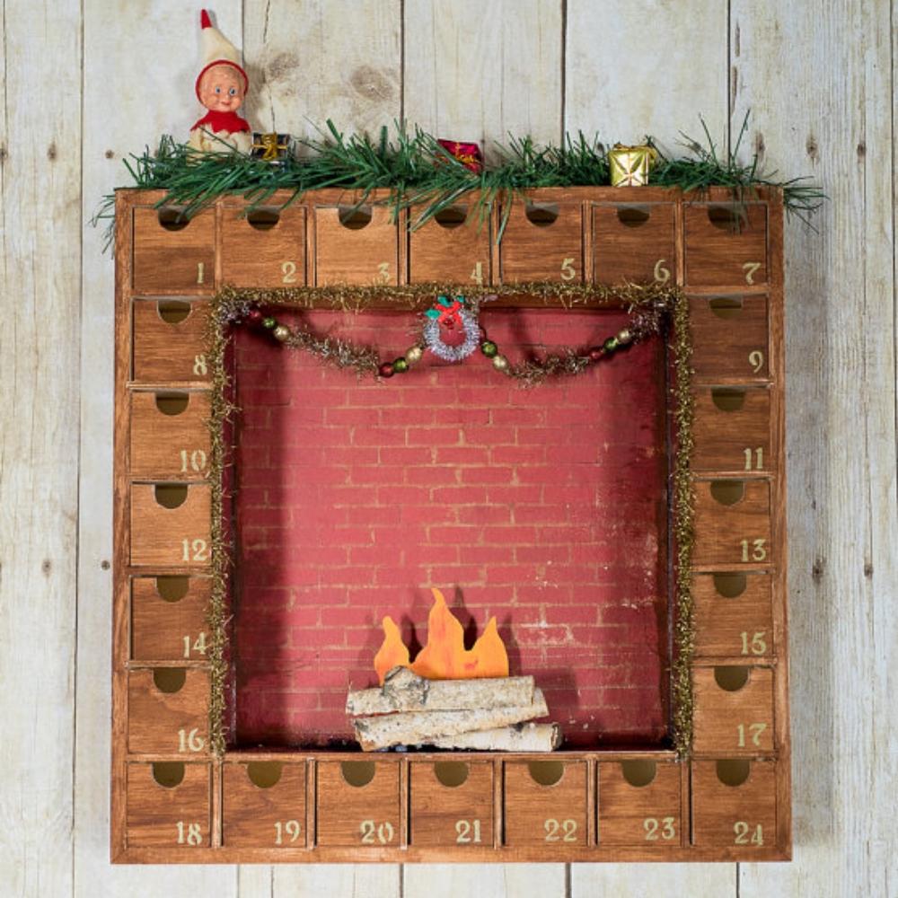 Christmas Fire Wooden Advent Calendar