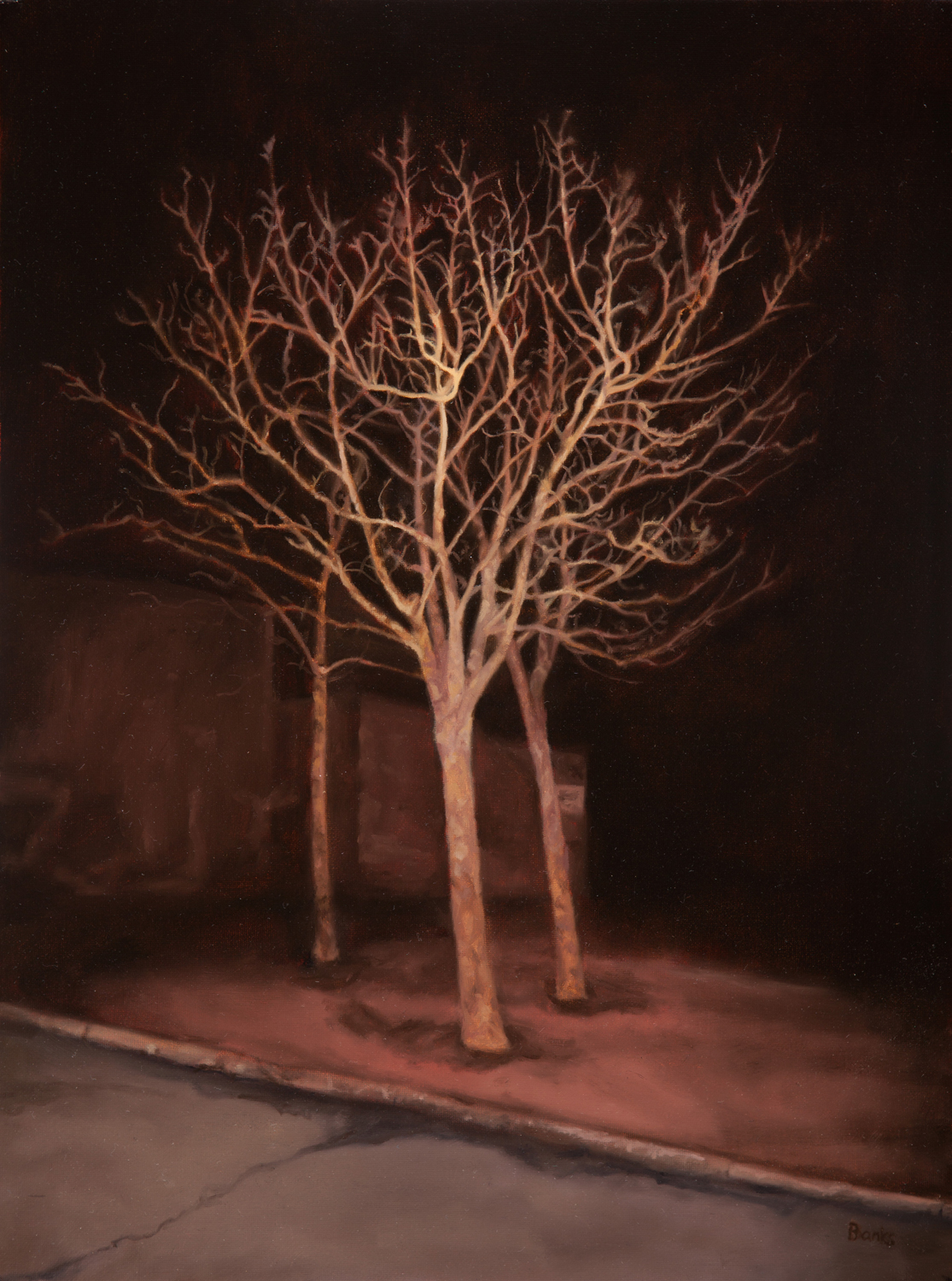 BUCKINGHAM,  oil on canvas, 30cm x 40cm, 2012