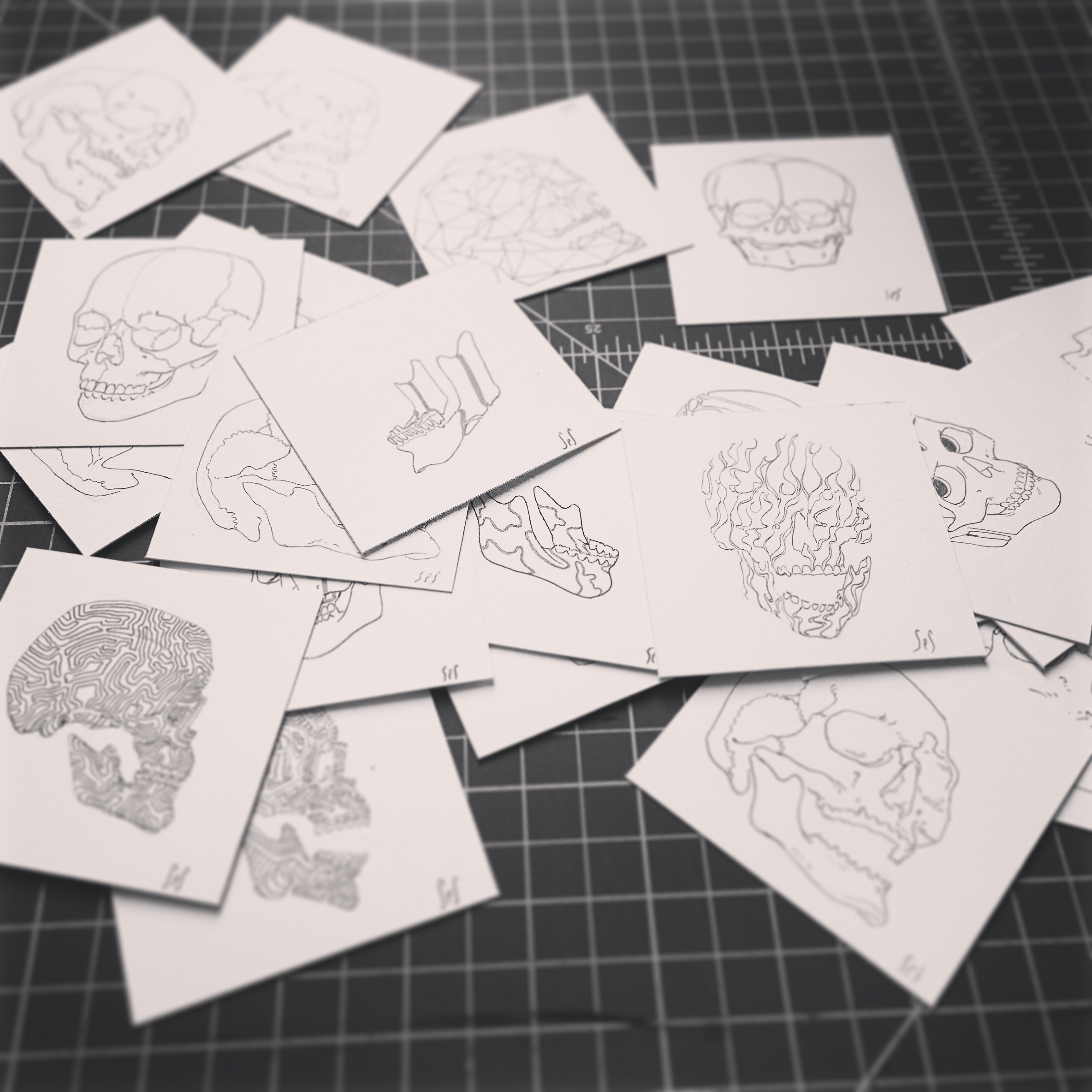 original pen sketches i'm giving away for every t-shirt order.