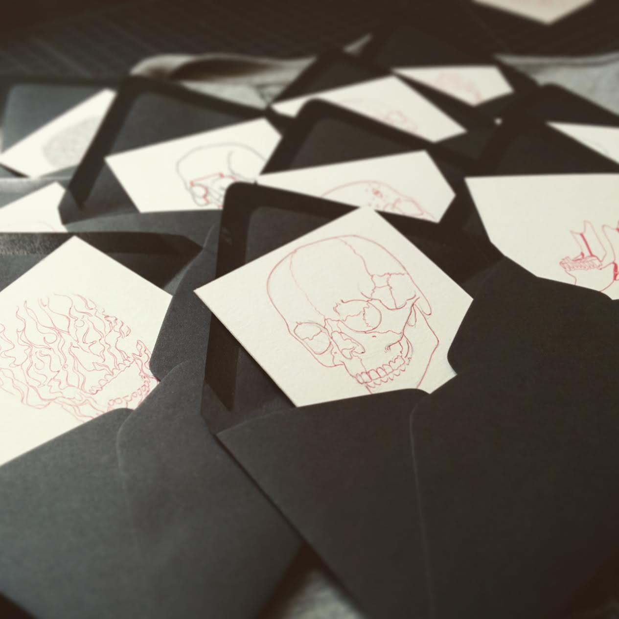 getting the sketches in some nice envelopes...