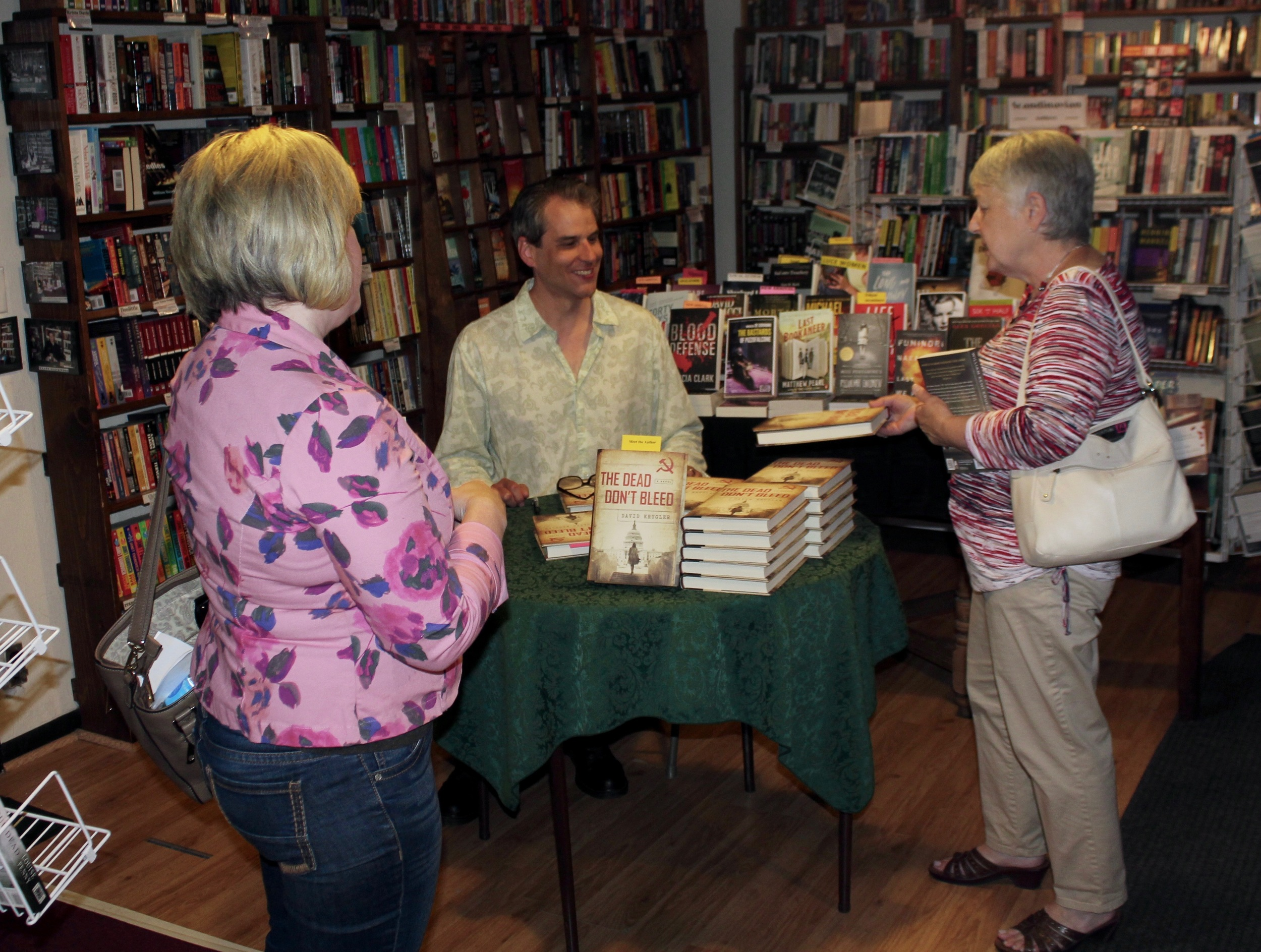 Signing at Once Upon a Crime Bookstore, Minneapolis, June 11, 2016