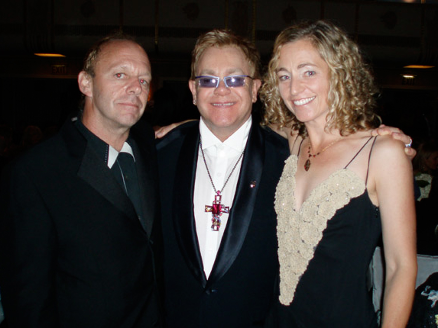 Steven and Sharon with Sir Elton John