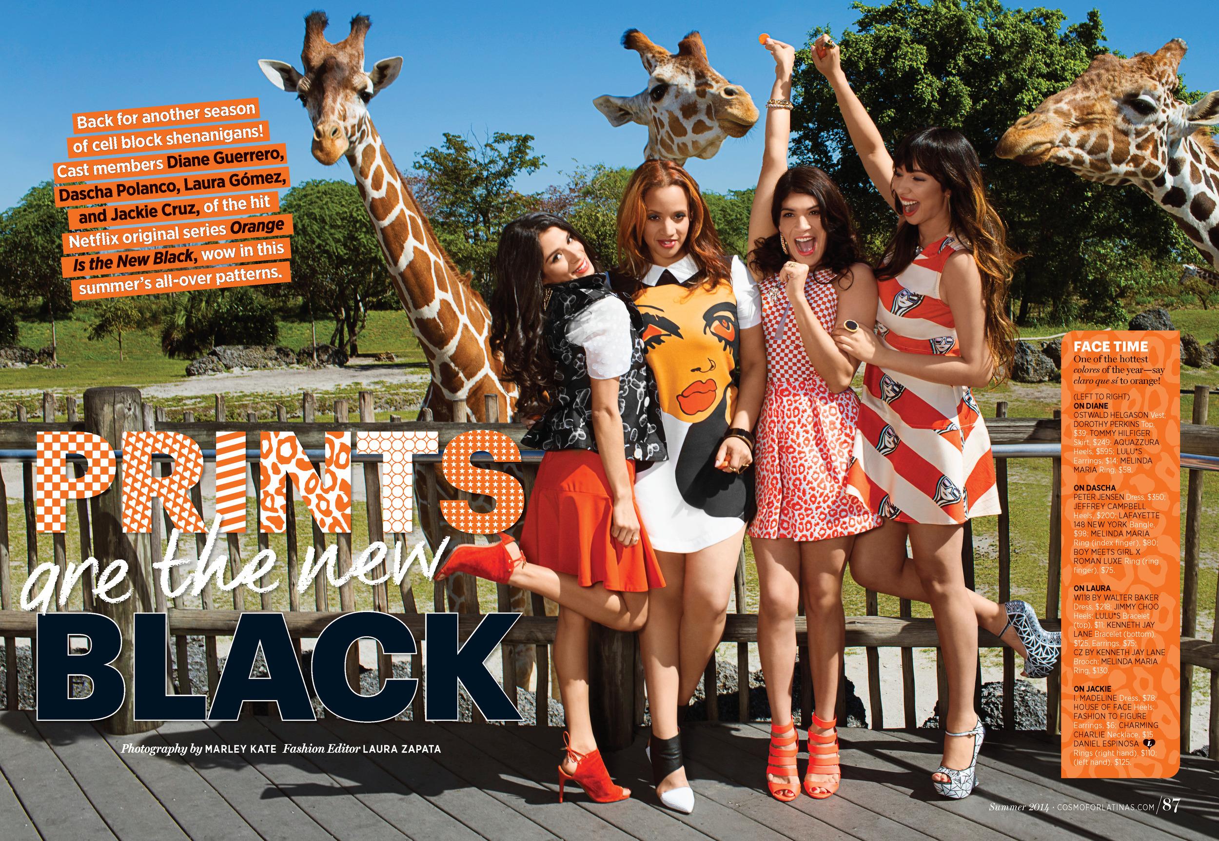 "Cosmopolitan.com & Cosmo for Latinas Magazine - ""Orange is the New Black"" cast"