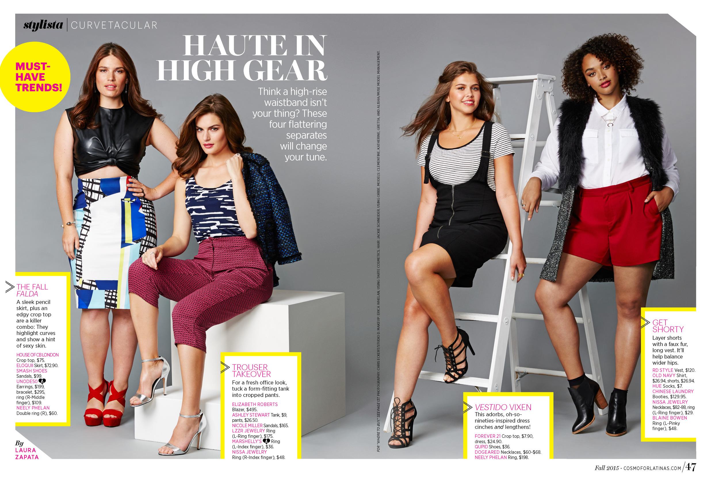Cosmo for Latinas Magazine Trend Report. Photo: Chris Eckert.