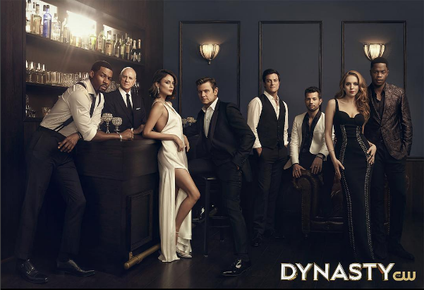 "Women's Fashion Editor: Laura Zapata. Costume Designer: Meredith Markworth-Pollack. ""DYNASTY"" (The CW Network) Season 1 promotion."