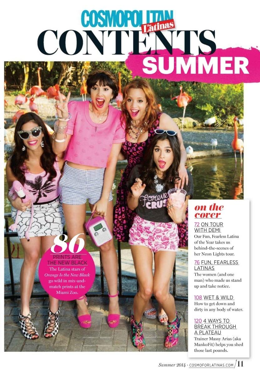 Cosmo for Latinas  Magazine - OITNB Cast