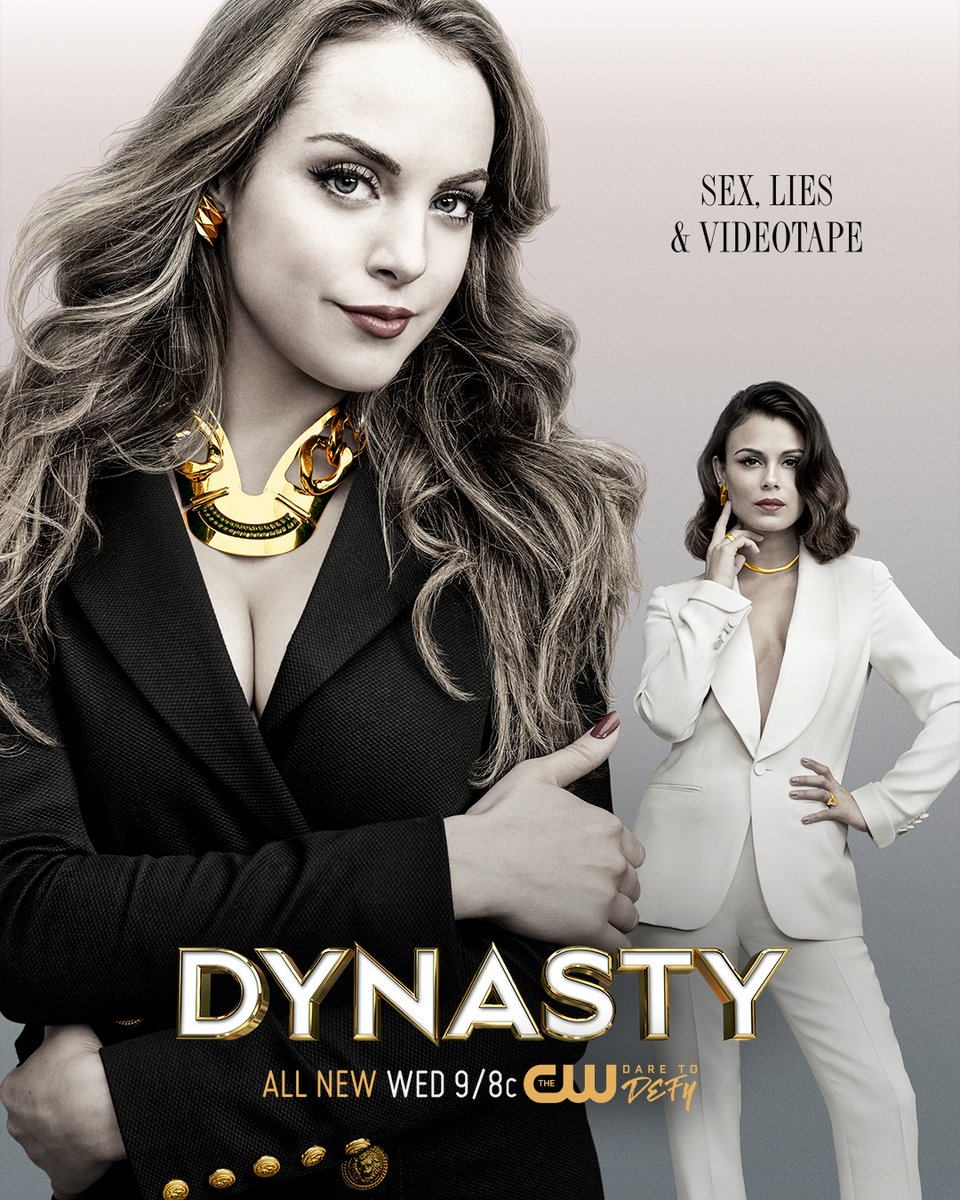 "Fashion Editor: Laura Zapata. Costume Designer: Meredith Markworth-Pollack. ""DYNASTY"" (The CW Network) Season 1 promotion."
